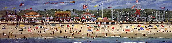 Newport Beach Rhode Island Boardwalk